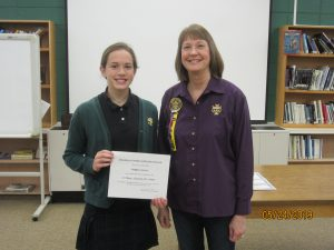 1st place local and state music award Maggie Lennon